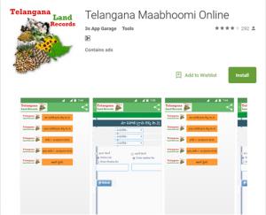 how to download telangana maa bhoomi app